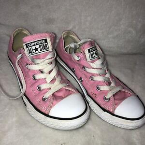 Details about PINK ALL STAR CONVERSE YOUTH GIRLS TENNIS SHOES SIZE 2 PINK