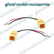 Pair of Speaker Connector Adaptor Lead Cable Plug for Fiat