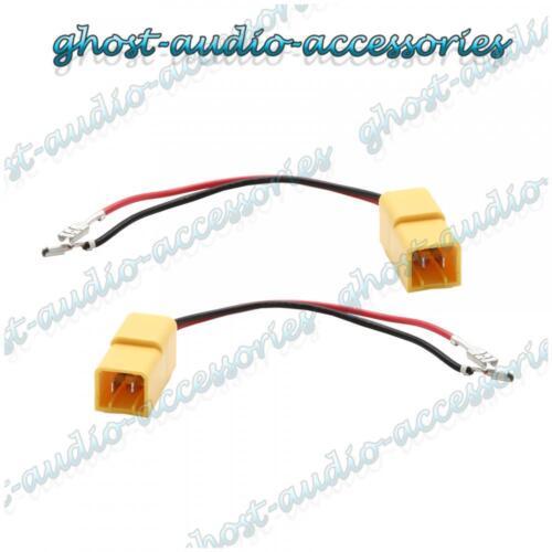 Par De Conectores Cable Adaptador Cable de altavoz Enchufe Para Fiat
