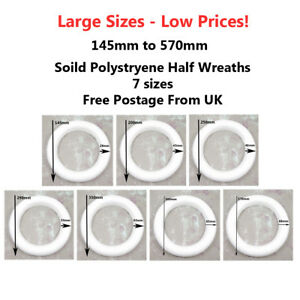 POLYSTYRENE-HALF-ROUND-RINGS-CHRISTMAS-HOLLY-WREATHS-GARLANDS-CRAFT-FLORIST-UK