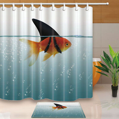 Wildlife Bear in Water With a Fish Bathroom Decor Fabric Shower Curtain Set 71In