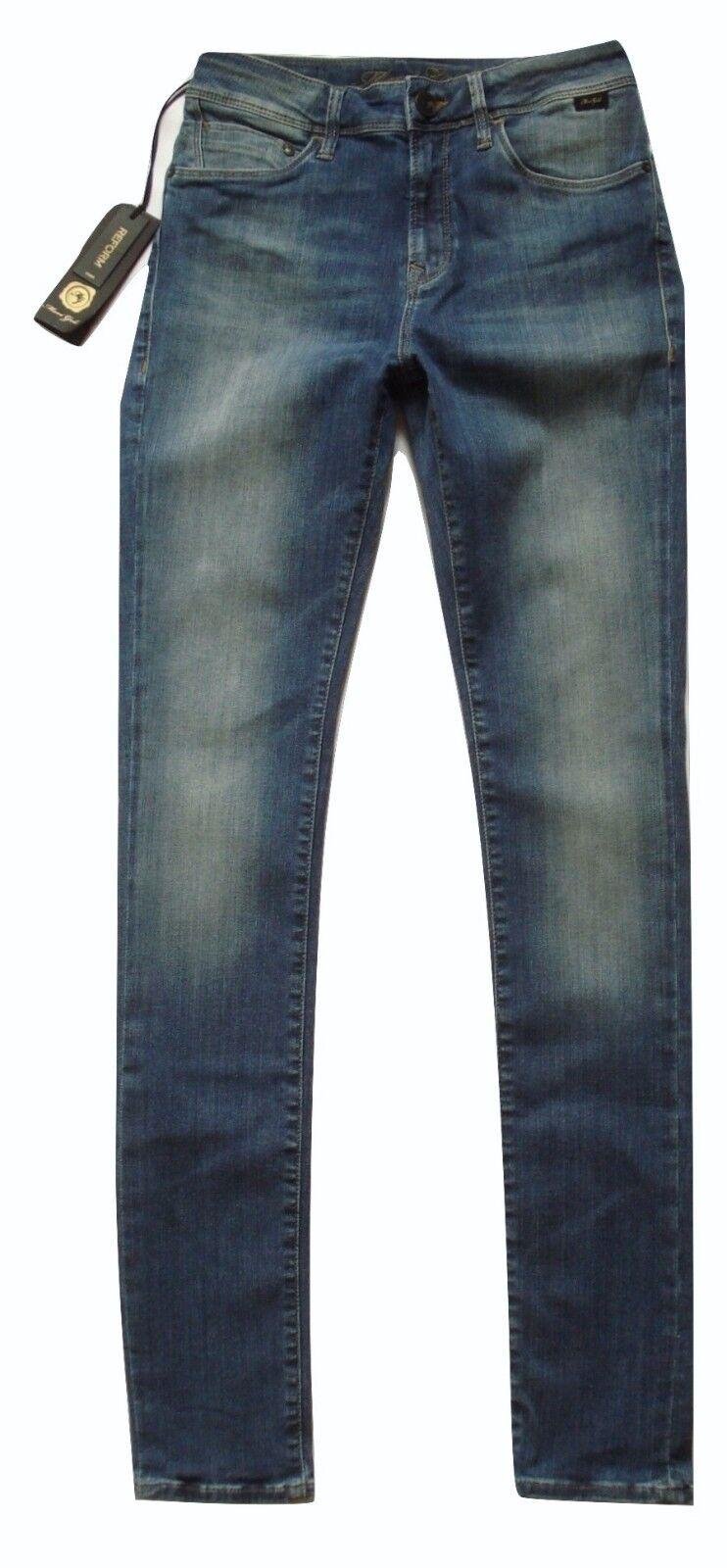 Nouveau MAVI Alissa High-Rise Super Skinny Jeans sz 27 32 laver à la mi or Reform