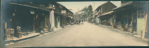 Japan-Panoramic-View-Street-Scene-Vintage-silver-print-Vue-panoramique-Vill