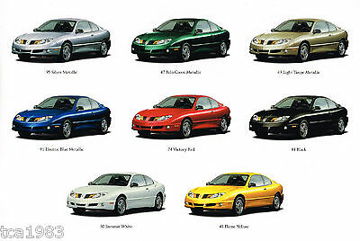 2003 pontiac sunfire brochure catalog with color chart 1sa 1sb 1sc 03 ebay 2003 pontiac sunfire brochure catalog with color chart 1sa 1sb 1sc 03 ebay