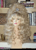 Sin City Wigs Long Curly Sweet Girly Look Volume Body Natural Blonde Bangs