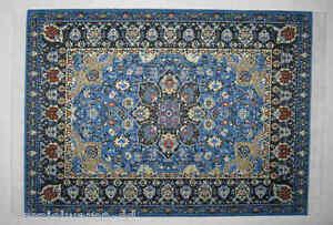 Acheter Pas Cher Kahlert 90040 Tapis Bleu 22x15 Cm 1:12 Pour La Maison De Poupées Neuf ! #