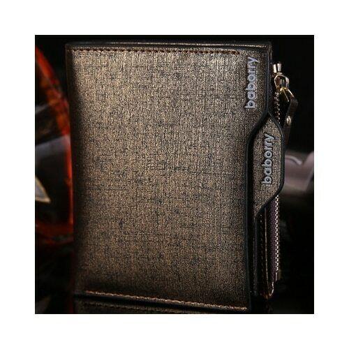 Hommes en cuir portefeuille ID carte de crédit Titulaire d/'embrayage deux volets Poche Fermeture Éclair Porte-monnaie