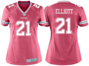 newest ded3a f6b20 Details about NFL Dallas Cowboys Ezekiel Elliott #21 Women's Pink Game  Jersey, Medium