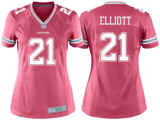 NFL Dallas Cowboys Ezekiel Elliott  21 Women s Pink Game Jersey X ... ad7244d3d