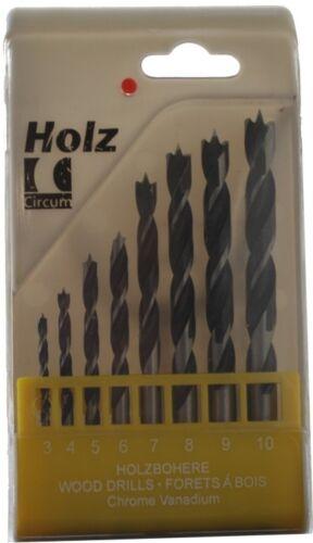 Holzspiralbohrer-Jeu 3-10,00mm 8 pces