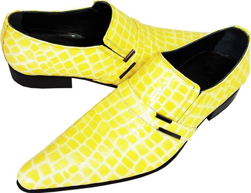 Original Chelsy - Italienischer Designer Party Party Party Slipper Maiskolben Kroko gelb 39 9c59fd