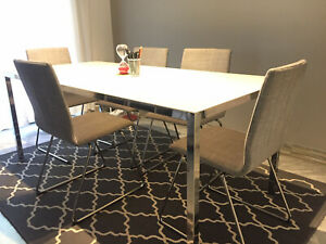 Tavolo Sala Riunioni 180x85 H 75 Vetro Opalina E Acciaio Mod Torsby Ikea Ebay