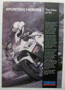 Yamaha Fzr Yzr Range Motorcycle Sales Brochure 1994 Uk Market Mc400 Ebay