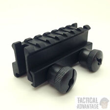 Weaver Picatinny QD Rifle Scope Hi Riser Mount Rail 20mm 7 Slot Hunting Airsoft