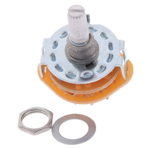 5 Pcs RS25 Shaft Panel Mount 2P6T Rotary Switch Selector Band/_H4