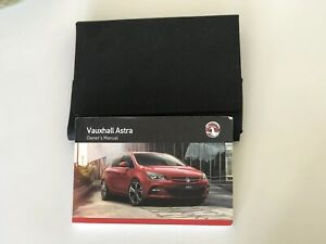 2012-2016 VAUXHALL ASTRA OWNERS HANDBOOK MANUAL PACK AND WALLET Print 2012