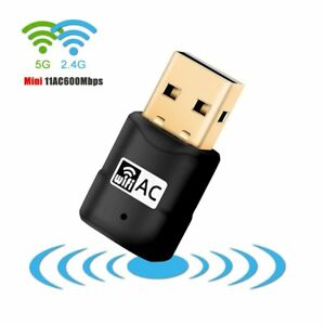 600Mbps-Dual-Band-802-11ac-2-4GHz-5GHz-PC-USB-WiFi-Adapter-Network-LAN-Dongle-UK