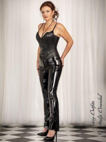 Black Pantaloni Knalleng Lackhose misura Su Vinile Vinyl zxPUTqfw