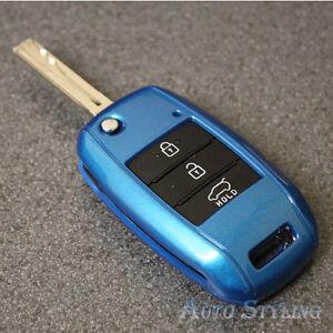BLUE KEY COVER PER KIA SMART Remote Fob 3 pulsante HULL SHELL proteggere 46dblu