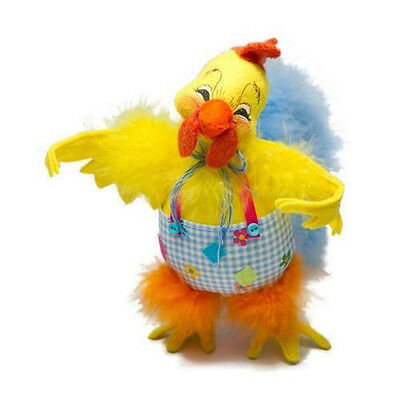 """Charming EASTER ROOSTER 8"""" Annalee Poseable Figure Holiday Table Decoration"""