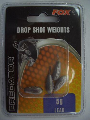 4 Stück 5 Gramm FOX Predator Drop Shot Weights Blei