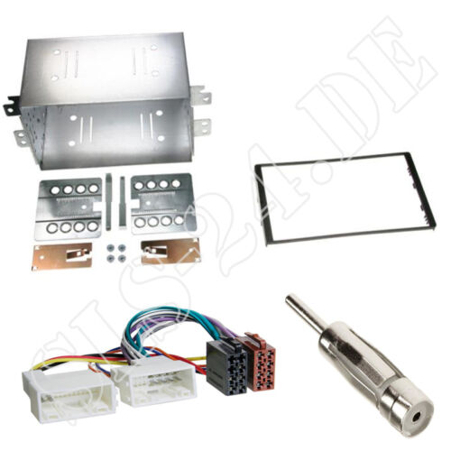 KIA Carens III FG ab06 Doppel-DIN Blende Autoradio-Einbaurahmen ISO Adapterkabel