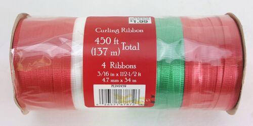 """450/' cinta que se encrespa vintage encontrar Rojo//Blanco//Verde 3//16/"""" de ancho"""