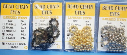 Bead Chain Eyes Ø 3,9 mm Large 45 cm  Kugelkettenaugen Made in USA Linked Eyes