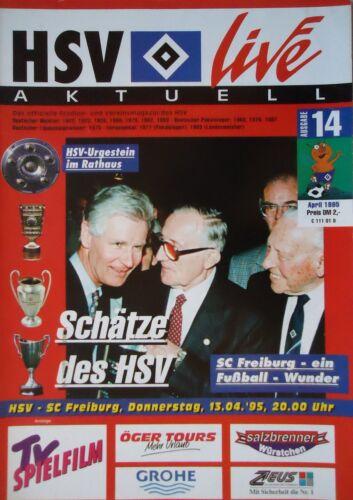 SC Freiburg Programm 1994//95 HSV Hamburger SV