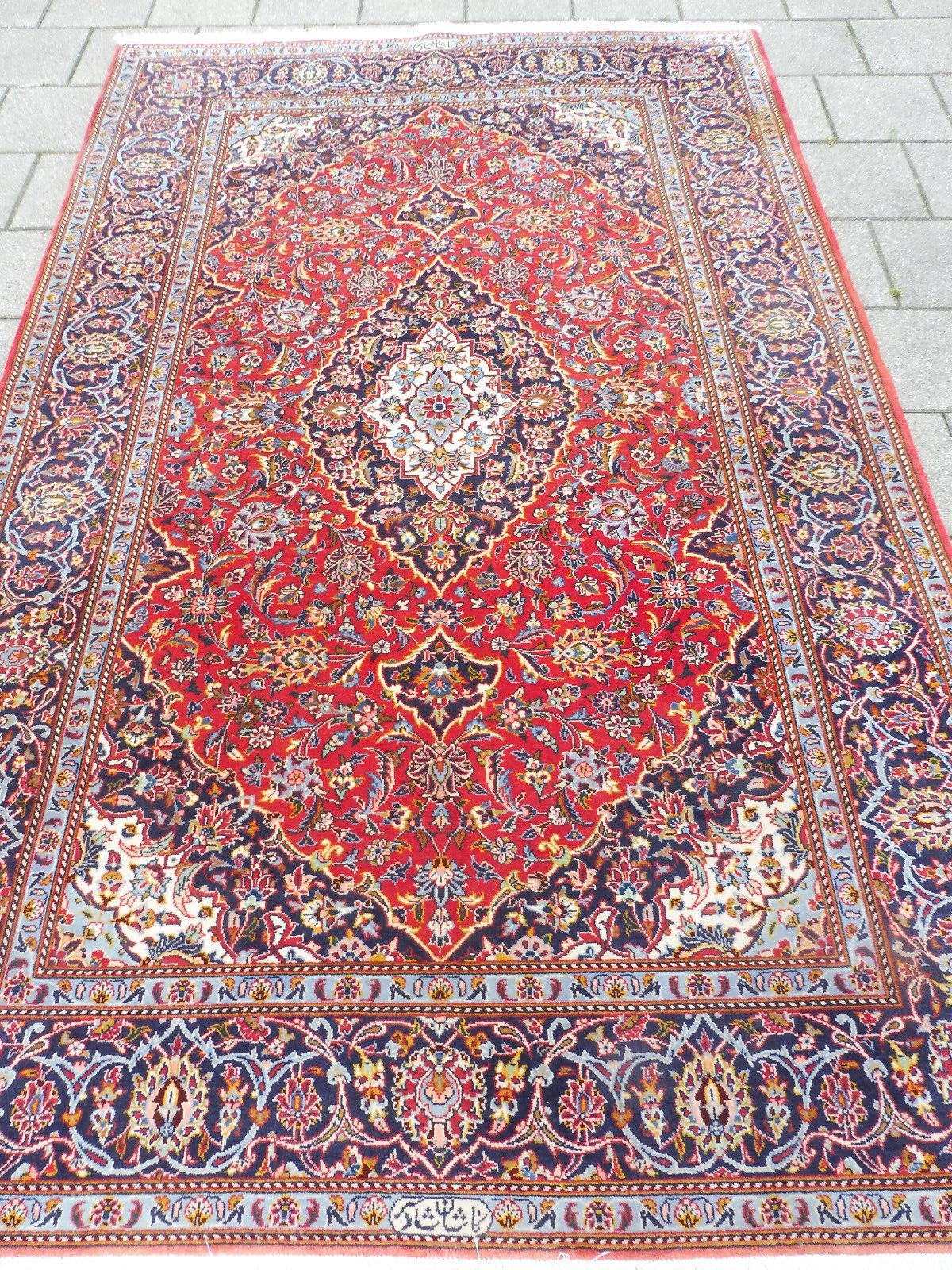 Noble, de haute qualité tapis oriental __ 230 CM CM 230 X 146cm_ __ signé __ TOP! 9887b9