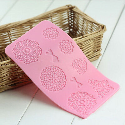 Lace Flower Butterfly Silicone Mould Cake Cupcake Decoration Embosser Mold DIY*1