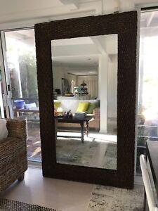 Platted-brown-cane-framed-huge-mirror