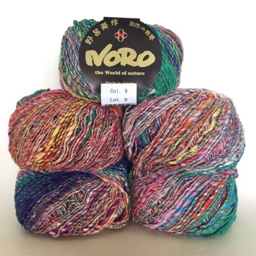34/% Wool Shade 9 54/% Cotton 1 x 50g 12/% Silk Noro Kibou DK