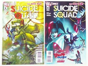 DC-SUICIDE-SQUAD-2011-2-6-HARLEY-QUINN-Lot-NEW-52-VF-to-NM-Ships-FREE