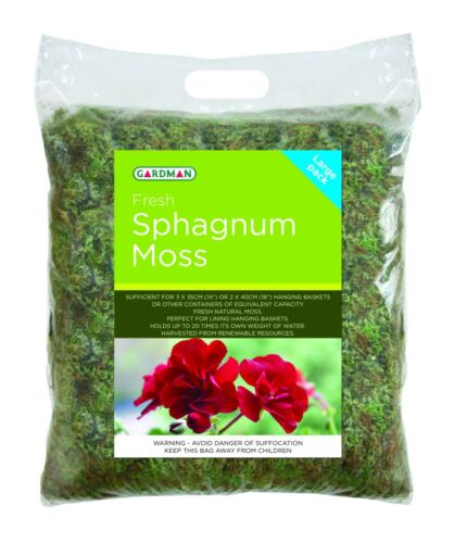 Large Pack Fresh Sphagnum Moss Hanging Baskets Planters