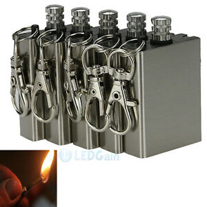 5pcs Survival Emergency Gear Camping Fire Starter Flint Metal Match Lighter Hike