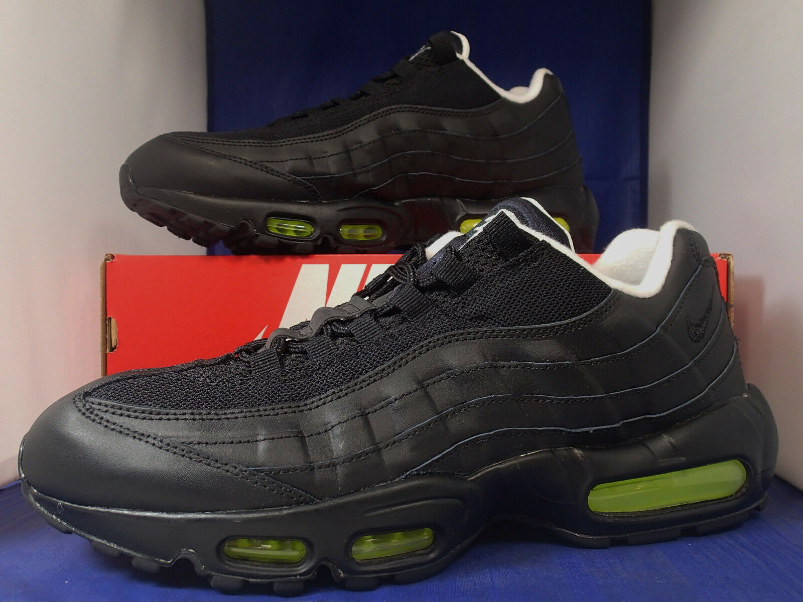 Nike air max 95 id schwarz - - weiß - volt - - sz - 11 (818592-992) 6a685a