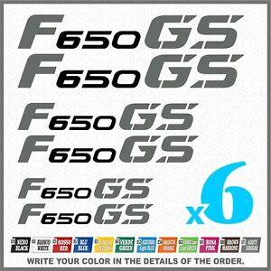 6x-F650-GS-Black-Grey-BMW-MOTORRAD-PEGATINA-ADESIVI-AUTOCOLLANT-STICKERS