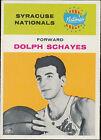 1961 Fleer Dolph Schayes #39 Basketball Card