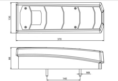 Gauche Arrière Combinaison Feux pour Mercedes Actros MP4 Camion OEM Ref