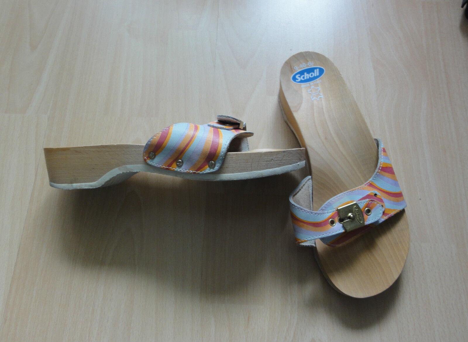 Scholl + Graceland - 2 Paar Schuhe, Pantolette;Damensabot,Gr.40 bunt + Pink