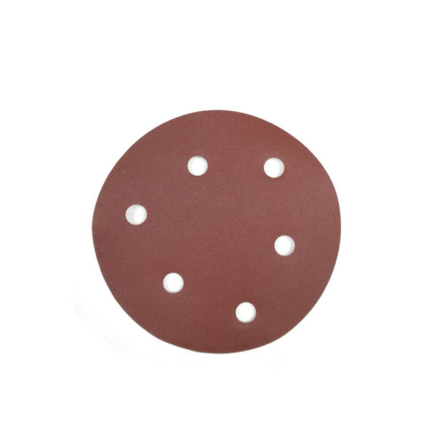 10pcs 5 inch round sandpaper pierced  for sander cutting polishing 125mm NEW