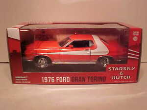 Starsky-and-Hutch-TV-1976-Ford-Gran-Torino-Die-cast-Car-1-24-Greenlight-8-inch