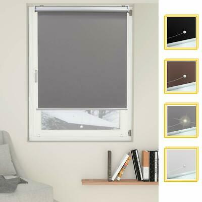 Cordless Window Blind Roller Privacy Shade Roll Up Fabric