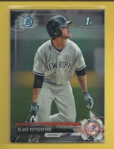 Blake-Rutherford-RC-2017-1st-Bowman-Chrome-Prospects-Rookie-Card-BCP121-Sox