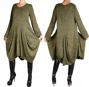 superposée Robe 44 Vert Xxl Look d'hiver Kaki L 46 48 50 tunique asymétrique rXUgxnqwIU