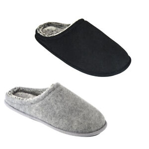 mens fur lined mule slippers