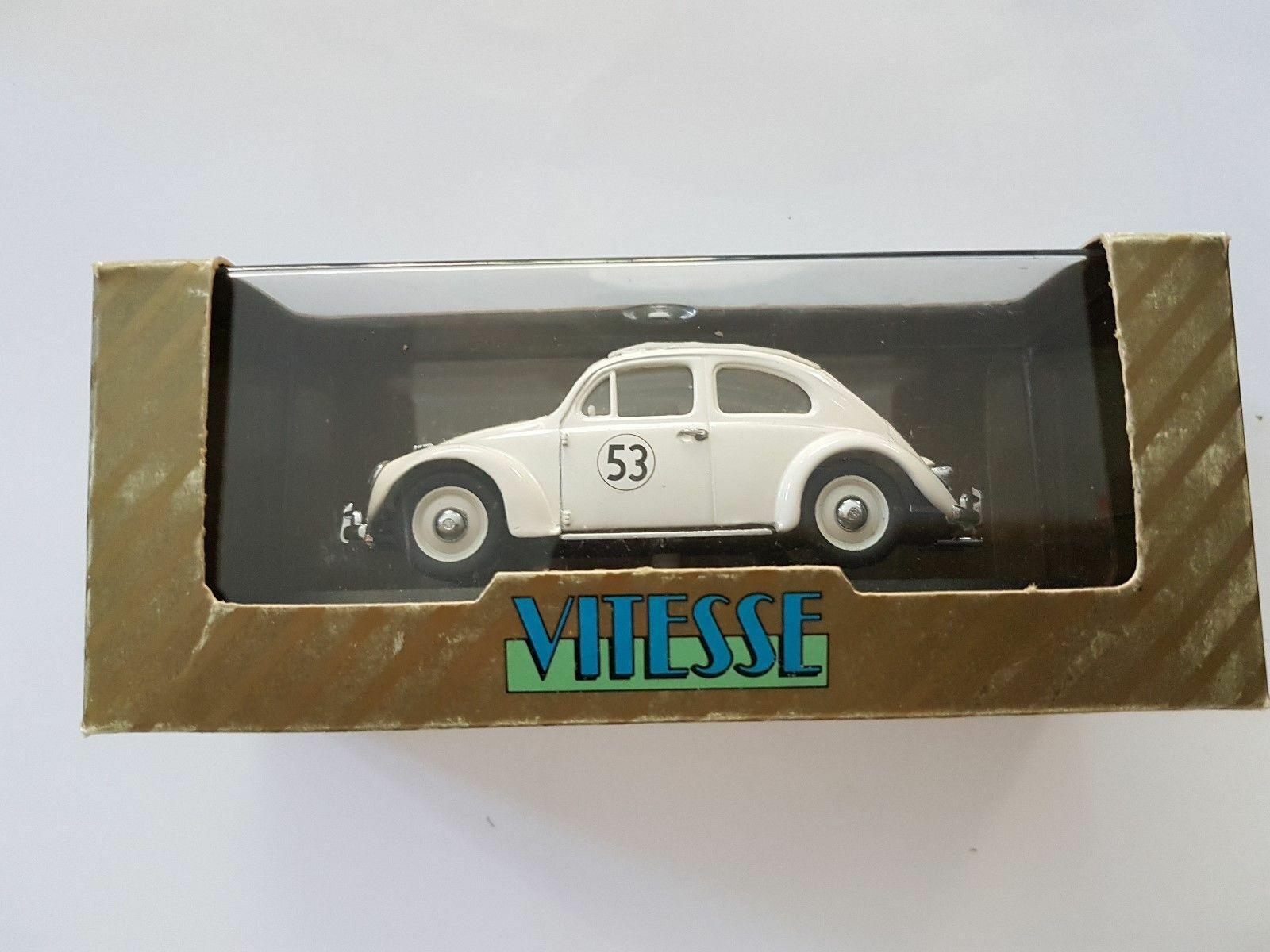 Escaso Vitesse VW Beetle Herbie 53 Cerrado Techo Solar 1 43 Ltd Edt En Caja Original