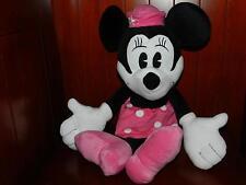 "22"" VINTAGE Style Minnie Mouse Disney Plush Figure Doll Stuffed Animal Pink Hat"