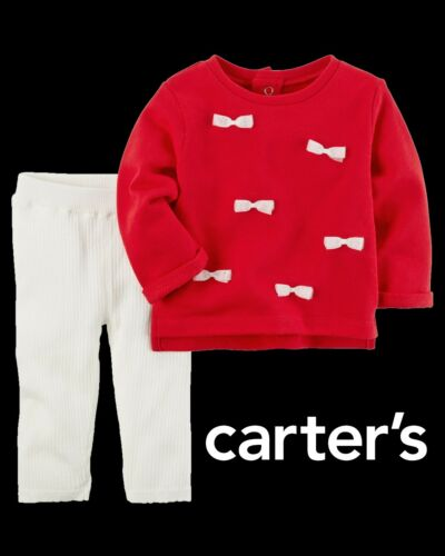 NWT Carter/'s Girls/' Red /& Off-WhiteLeggings Set Size 3M, 6M, 9M,12M NEW